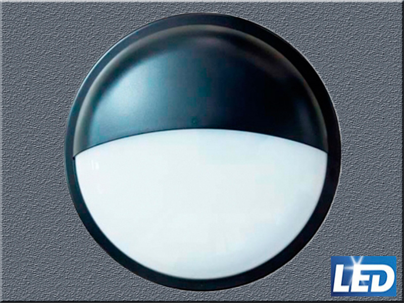 Aplique exterior negro Led IP65