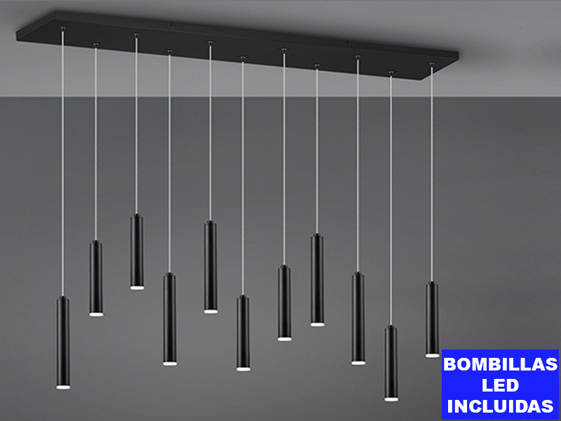 Llum TUBULAR, 11 Leds inclosos, alçada regulable i 3 intensitat de llum